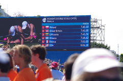 Screen with results of W2X during Rio2016 Olympics Royalty Free Stock Photography