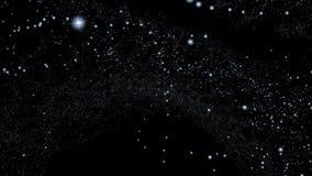 Screen saver animata astratta dello schermo di computer della stella dell'universo video d archivio