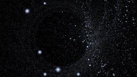 Screen saver animata astratta dello schermo di computer della stella dell'universo archivi video