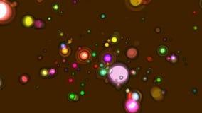 Screen saver animata astratta di Brown video d archivio