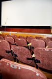Screen and scene in movie theater Royalty Free Stock Images