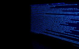 Screen with software developer code. Stock Images