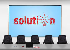 Screen with solution Royalty Free Stock Photos