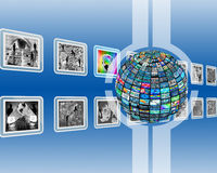 Screen and sphere Stock Images