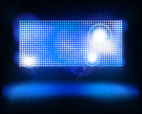 Screen on stage. Vector illustration. Stock Photo