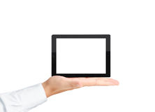screen tablettouchen arkivbild