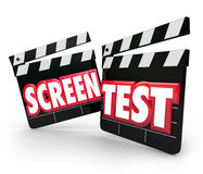 Screen Test Movie Clapper Boards Audition Peformance Acting Tryo Royalty Free Stock Photography