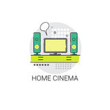 Screen Tv Home Digital Cinema Audio Speaker Set Icon Royalty Free Stock Photo