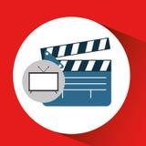 Screen tv movie clapper film. Vector illustration eps 10 Stock Image