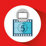 Screen tv movie strip countdown film Stock Photo