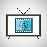 Screen tv movie strip countdown film Royalty Free Stock Image