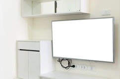 Screen TV on the wall Royalty Free Stock Images