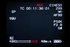 Screen of video camera Stock Image