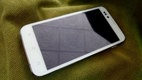 White smartphone cell phone Stock Photos
