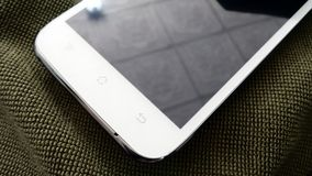 Screen of White smartphone Royalty Free Stock Photo