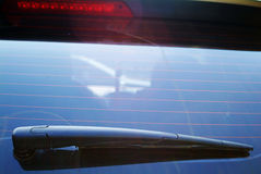 Screen wiper. Close shot of a car screen wiper Royalty Free Stock Photo
