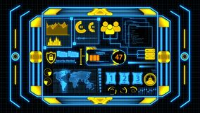 Screen With Yellow And Blue Data Analysis Details with Grid Background