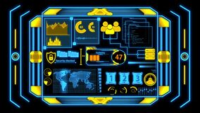 Screen With Yellow And Blue Data Analysis Details without Grid Background