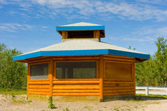 A screened rest stop in the northwest territories Stock Images