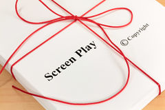 Screenplay Script with Red Twine Royalty Free Stock Photography