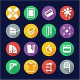 Screenprinting Icons Flat Design Circle Royalty Free Stock Image
