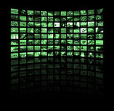 Screens. 3D generated monitor screens. High res render Stock Images