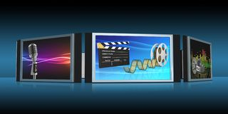Screens Royalty Free Stock Images