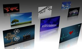 Screens Stock Photography