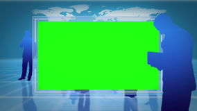 Screens with chroma key space with an Earth image courtesy of Nasa.org Royalty Free Stock Image