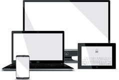 Screens Collection - Smart Phone, Laptop, Tablet,  Stock Image