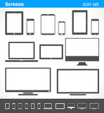 Screens - icon set Royalty Free Stock Photography