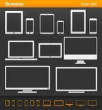 Screens - icon set. Royalty Free Stock Photos