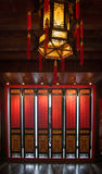 Screens and lanterns. Residential interior nobility,in ancient China Stock Photos