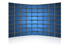 Screens of monitors Royalty Free Stock Photos