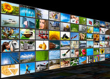 Screens multimedia panel Stock Images