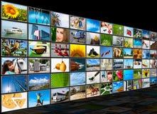 Screens multimedia panel Stock Images
