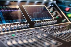 Screens of the stage controller with switchers Royalty Free Stock Image