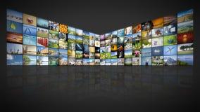 100 screens video wall Royalty Free Stock Photo