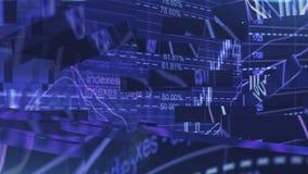 Screensaver för ekonominyheter lager videofilmer