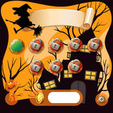 Screensaver of halloween theme game Stock Image