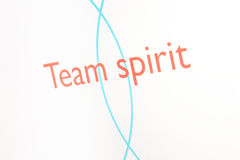 Screenshot of a presentation: Team spirit Stock Photos