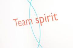 Screenshot van een presentatie: De geest van het team Vector Illustratie