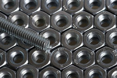 Screw. Bolt and nuts Royalty Free Stock Image