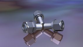 Screw. Nice composition of silver screw Stock Images