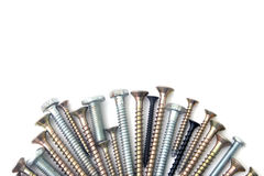Free Screw And Bolts Isolated Over White Stock Photography - 53515002
