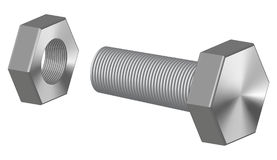 Screw-bolt Royalty Free Stock Images