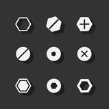 bolt flat icons royalty free illustration