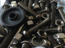Screw bolts bag Stock Photos