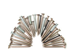 Screw and bolts isolated background Royalty Free Stock Image