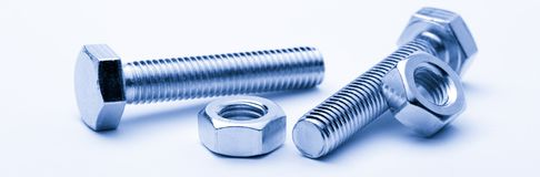 Screw bolts and nuts Royalty Free Stock Images